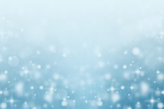 Abstract blurred snow bokeh background Stock Images