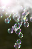 Abstract and blurred soap bubble Royalty Free Stock Photo