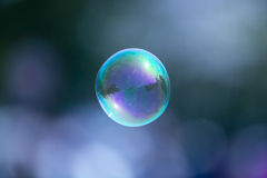 Abstract and blurred soap bubble Stock Images