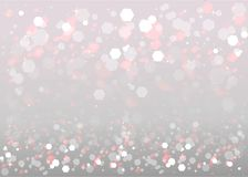 Abstract blurred soft focus bokeh of bright silver background. With tinsel, copy space template. Vector illustration for web and print concept, elegant royalty free illustration