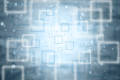 Abstract blurred square bokeh cyan blue background Royalty Free Stock Images