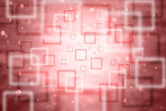 Abstract blurred square bokeh red background Stock Photography
