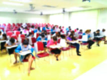 Abstract blurred  students  doing examination in study room Stock Photography