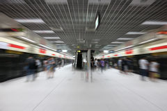 Abstract blurred subway station background royalty free stock photo