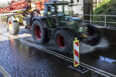 Abstract blurred tractor Stock Photo