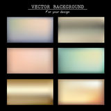 Abstract blurred vector backgrounds Royalty Free Stock Image