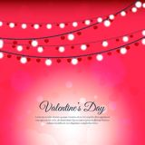 Abstract blurred vector with light bulb and heart background. For valentine day Stock Images