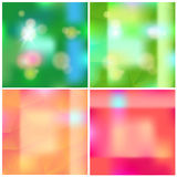 Abstract blurred vector shiny backgrounds set Stock Photography