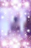 Abstract blurred violet festival background. With sparkles Stock Image