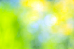 Abstract blurred yellow, blue and green background Royalty Free Stock Photography