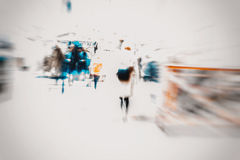 Abstract blurred young women with bag in the city. Modern lifestyle, shopping. Copy space ready for your design. Royalty Free Stock Photo