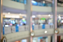 Abstract blurry background of retail shops in shopping mall.  royalty free stock photos