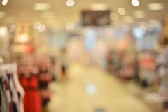 Abstract blurry background of retail shops in shopping mall.  Royalty Free Stock Images