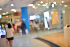 Abstract blurry background of retail shops in shopping mall.  Stock Image