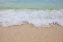 Abstract blurry background of soft wave of blue sea Stock Image