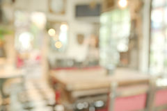 Abstract blurry bright restaurant royalty free stock images