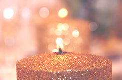 Abstract Blurry Candle Bokeh Background Royalty Free Stock Images