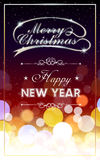 Abstract blurry Christmas background poster Stock Photos