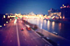 Abstract blurry city night Royalty Free Stock Photo