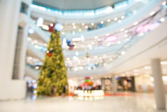 Abstract Blurry or Defocus Background of Shopping Mall with Chri Stock Photography