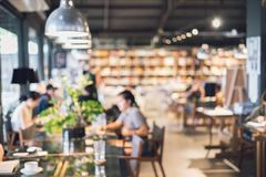 Abstract blurry defocused image of restaurant interior, Vintage. Tone Royalty Free Stock Photos