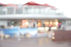 Abstract blurry food shop Stock Image