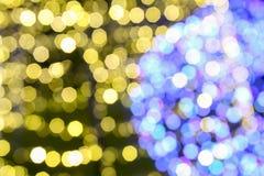 Illuminated background of Christmas decoration. Abstract blurry illuminated background of Christmas decoration Royalty Free Stock Photography