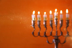 Abstract and blurry image of jewish holiday Hanukkah Royalty Free Stock Photos