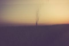 Abstract blurry landscape background of field Royalty Free Stock Image