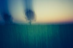 Abstract blurry landscape background of field Royalty Free Stock Photo