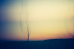 Abstract blurry landscape background of field Stock Photos