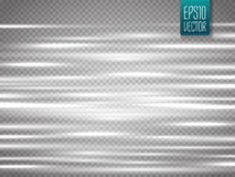 Abstract blurry motion lines  on transparent background. Stock Image