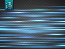 Abstract blurry motion lines  on transparent background. Stock Photo