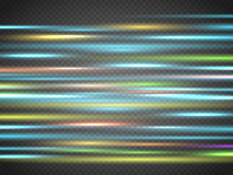 Abstract blurry motion lines  on transparent background. Royalty Free Stock Images