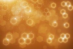 Orange hexagonal background. Abstract blurry orange hexagonal background. 3D Rendering Royalty Free Stock Image