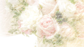 Abstract blurry paper texture background with rose bouquet Stock Photo
