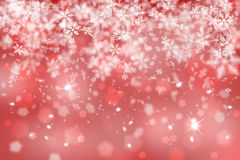 Abstract blurry red snowflake Stock Photos
