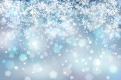 Abstract blurry snowflake Royalty Free Stock Images