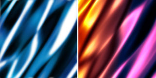 Abstract blurry soft background. Set of two abstract soft silky background stock illustration
