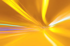 Abstract blurry yellow tunnel lights Royalty Free Stock Photography