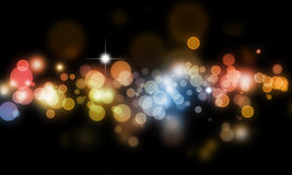 Abstract blurs on dark background Royalty Free Stock Photography