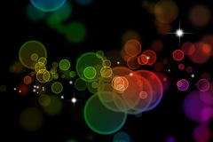 Abstract blurs on dark background Royalty Free Stock Image