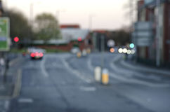 Abstract blurs on the road with cars in Manchester UK England. Stock Photos