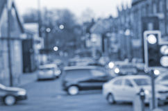 Abstract blurs on the road with cars in Manchester UK England. Royalty Free Stock Images