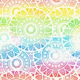 Abstract boho watercolor rainbow seamless background stock photo