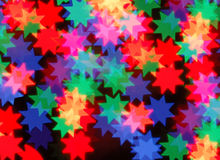 Abstract bokeh. In star shape Stock Photo