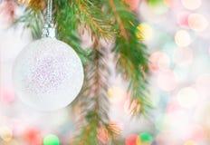 Abstract bokeh background with christmas ball Stock Photos