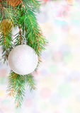Abstract bokeh background with christmas ball Royalty Free Stock Photography