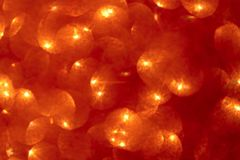 Abstract bokeh background. Christmas glowing red bubbles background. stock illustration