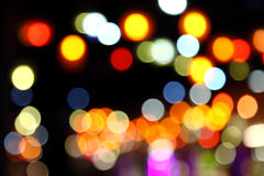 Abstract bokeh background of Christmaslight Royalty Free Stock Images